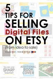how to sell digital files on etsy successfully