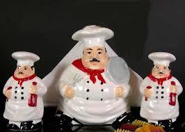 ceramic 3pc white napkin set kitchen chef