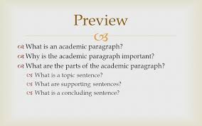 the academic paragraph ppt video online preview what is an academic paragraph