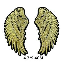 gold angel wings small iron on gold angel wings wings patches rose gold angel wings ornament gold angel wings