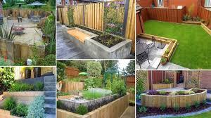 Garden Design Ideas With Railway Sleepers 120 Amazing Garden Sleepers Decoration Ideas Garden Ideas