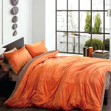 orange duvet cover solid two and brown velvet 4 piece queen king size duvet covers on