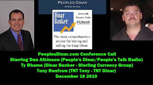 ty rhame sterling currency group dinar banker lose house
