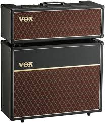 ac30. vox ac30 stack 30-watt tube head with matching 2x12\ ac30 3