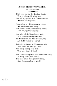 a sick person s prayer by c d bradlee library of congress