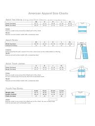 American Apparel Size Chart American Apparel Size Chart 2 Free Templates In Pdf Word