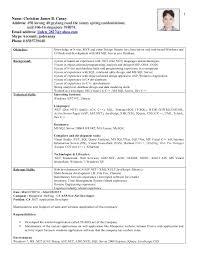 Resume C C Developer Free Resume Examples