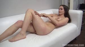 Teen brunette gets naked and shows her virgin pussy Shameless