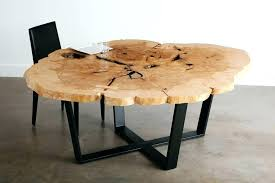 live edge round coffee table tables furniture unpainted inside rounded remodel 19