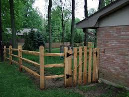build wood split rail fence