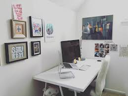 home office and desk tour for an illustrator writer work from  this is so much sparser than it looks like now say hi to the sour