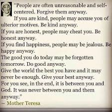 Mother Teresa Quotes Love Anyway Adorable Love Quotes Love Anyway