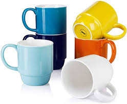 This list of the best coffee mugs has something for every kind of coffee drinker. Amazon Com Sweese 609 002 Stackable Mug Set 21 Ounce Large Coffee Mugs For Coffee Tea Cocoa Set Of 6 Hot Assorted Colors Kitchen Dining