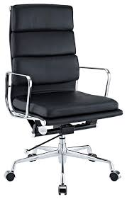 modern office chair. domino high back office chair in black genuine leather modern-office-chairs modern c