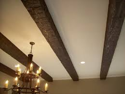 ceiling beams on a standard ceiling