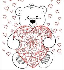 Heart Coloring Teddy Bear With Heart Coloring Page Davidstyleinfo