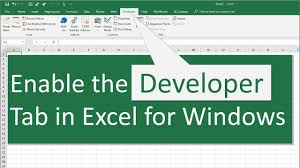 Excel 2010 Design Mode How To Enable The Developer Tab In Excel For Windows