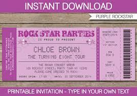 Concert Ticket Invitation Template