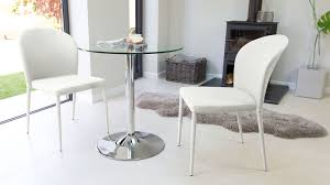 incredible modern round glass and chrome table 2 seater uk 2 seater round dining table and chairs decor