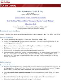 Mla Style Guide Quick Easy Pdf