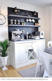 Greencrystalrose coffee bar ideas on how to set up a coffee station. 10 Ideas For Creating A Tea And Coffee Nook Centris Ca