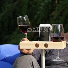 details about popular handmade outdoor garden wooden wine glass holder rack 2 colors