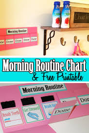Morning Routine Printable Chart Morning Routine Chart And Free Printable Mom Explores