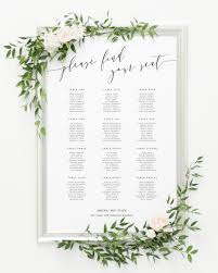 Sixth And I Seating Chart Romantic Calligraphy Seating Chart Created By Ads Bulk