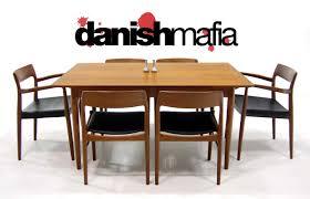 jl moller danish modern teak dining chair set eames