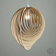 details about modern wooden droplet ceiling pendant light shade lounge lampshade lighting home