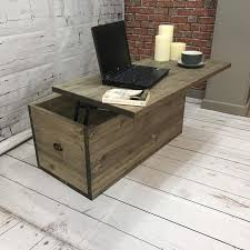 adjustable height coffee table chest