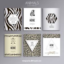 Animal Print Flyers Vector Free Download