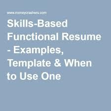 19 Best Functional Resume Samples Images On Pinterest Functional