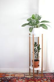 Mid Century Plant Stand This Would Cost So Much At The Store But Its So Easy To Make