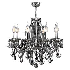 worldwide lighting catherine collection 6 light chrome and chrome crystal medium chandelier