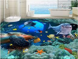 foam decoration submarine cave dolphin c floor tiles painted vinyl flooring bathroom wallpaper border wallpaper borders from wallpaper2018