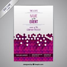 Event Badge Template Event Poster Vector Free Download