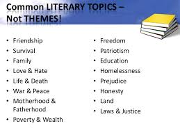 finding themes in literature ppt theme topics 15 common literary