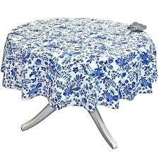 blue round tablecloths cotton coated french tabcloth by i dream of blue round tablecloths