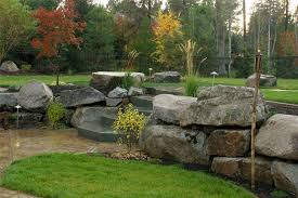boulder landscape wall walkway and path copper creek landscaping inc mead wa