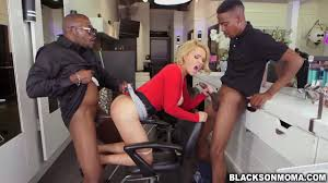 Horny tattooed mom fucking with two black men Shameless