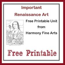Small Picture Harmony Fine Arts Renaissance Art printable unit free mini book