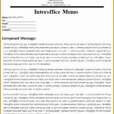 Inter Office Memo Template 9 10 Office Memo Examples