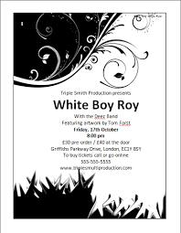 Black And White Flyer Templates Under Fontanacountryinn Com