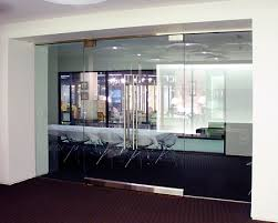 glass entrance doors