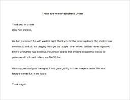 Ideas Of Thank You Letter For Business Dinner Meeting Cool 8 Thank