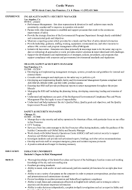 Sample Security Manager Resume Safety Security Manager Resume Samples Velvet Jobs 9