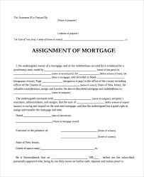 Assignment Of Mortgage Template