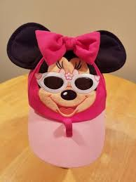 disney parks authentic sunglasses minnie mouse baseball cap w ears hat toddler