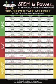 Summer Camp Weekly Schedule Summer Stem Camp 2018 The Stem Shoppe